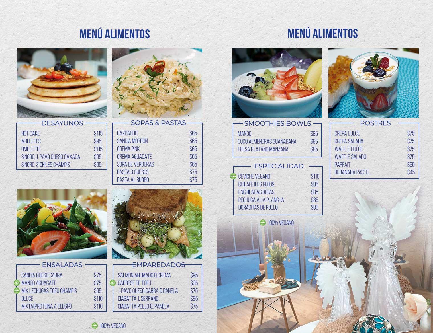 Cafetería vegana y vegetariana