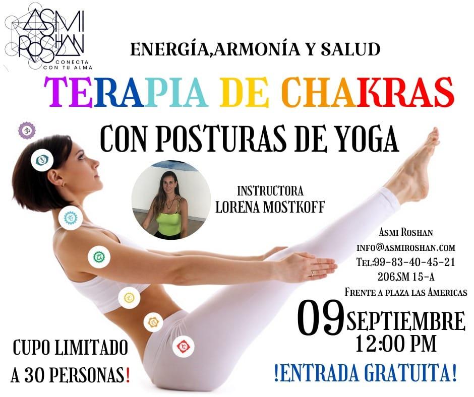 Terapia de Chakras con Asanas de Yoga