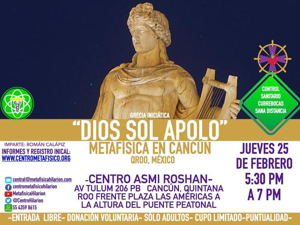 APOLO: DIOS SOL- Metafísica en Cancún